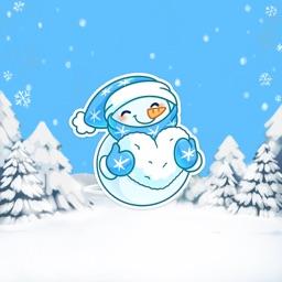大眼睛雪人蓝蓝