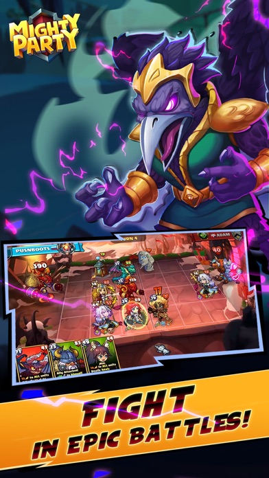 Mighty Party: Battle Heroes screenshot 1