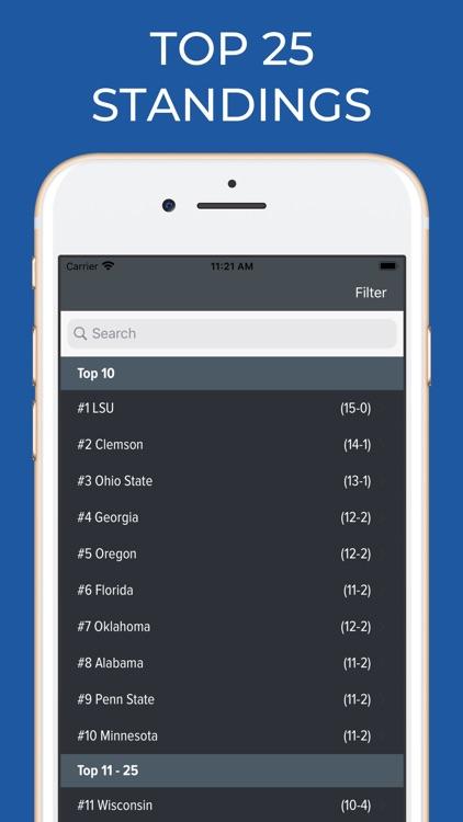 Air Force Football Schedules screenshot-5