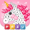 Color by Number rainbow - PAZU