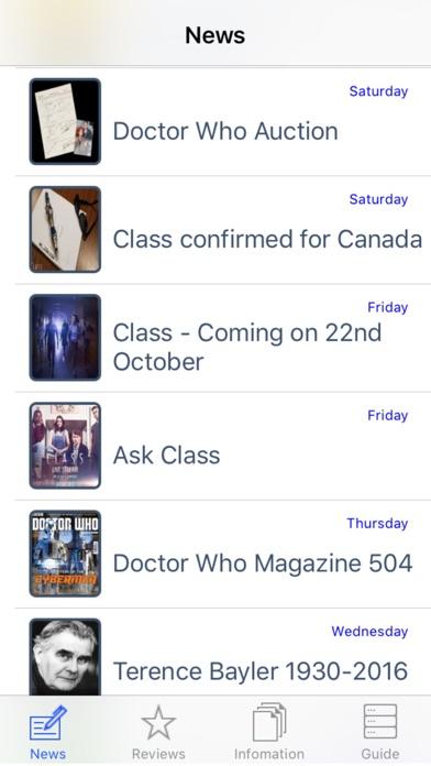 NITAS - Doctor Who News screenshot two