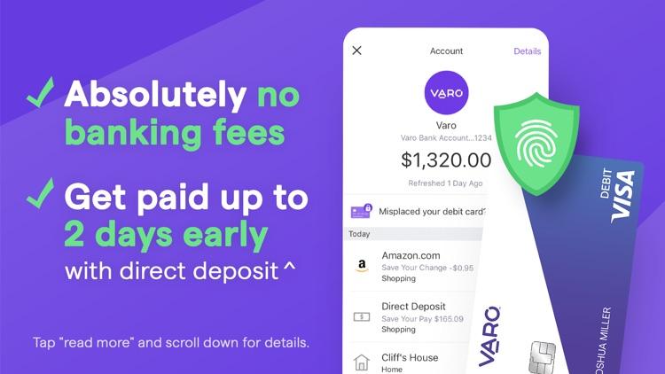 Varo: Mobile Banking & No Fees screenshot-0