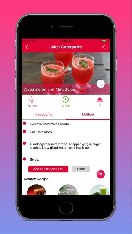 Fresh Juice Recipes screenshot-3