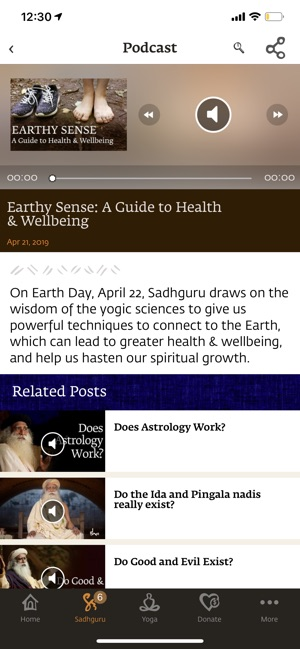 Sadhguru- Yoga & Meditation on the App Store