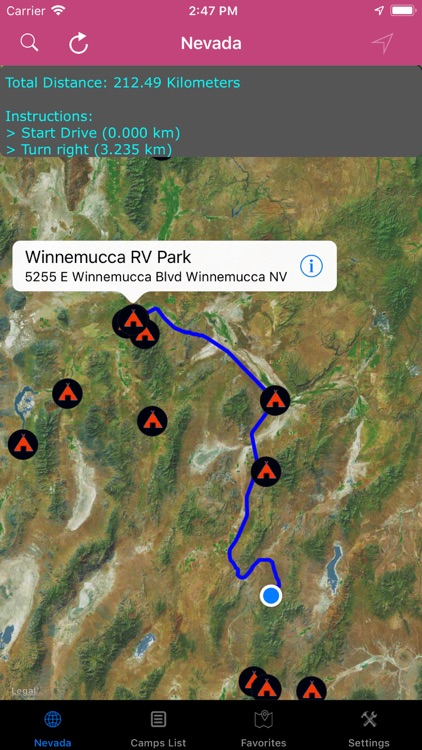 Nevada – Campgrounds, RV Parks