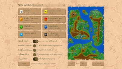 Warlords Classic Strategy Screenshots