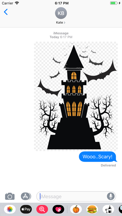 Screenshot for Halloween-Emojis Stickers in United States App Store