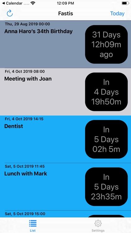 Fastis - Calendar Countdown