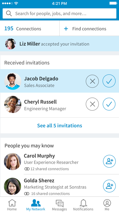 LinkedIn: Network & Job Search screenshot three