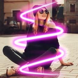 Neon Photo Editor Spiral Photo