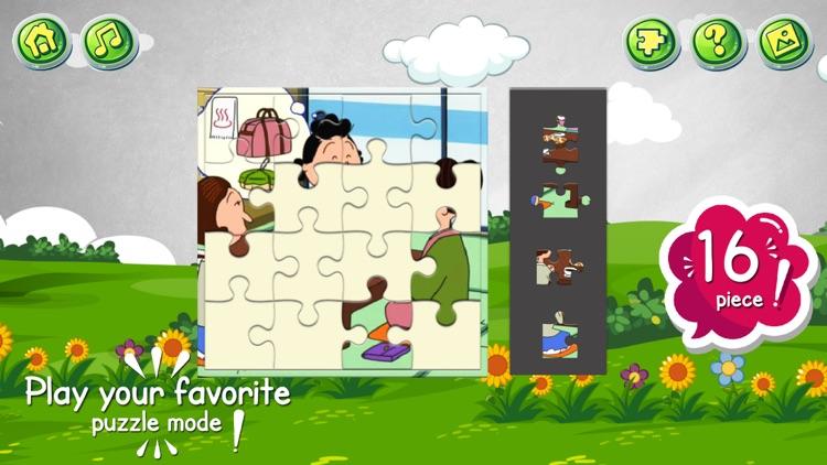 Cartoon jigsaw puzzles game screenshot-3