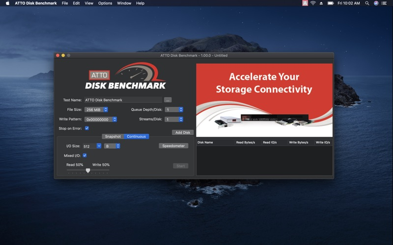 ATTO Disk Benchmark for Mac