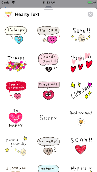 Hearty Text screenshot 1
