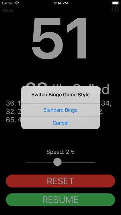 Speed Bingo Caller Party