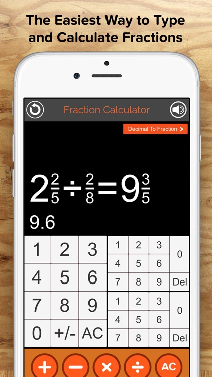Fraction Calculator + Decimals