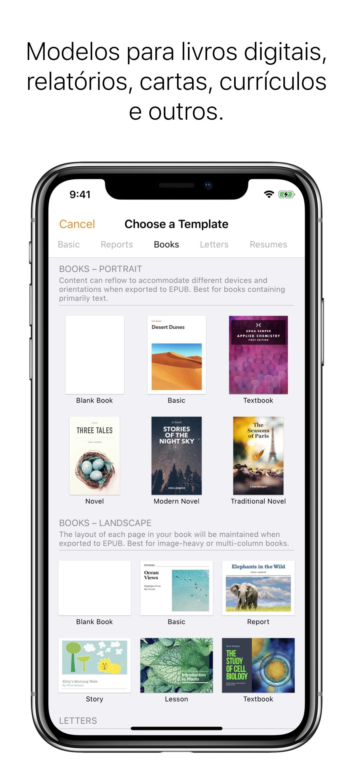 Screenshot do app Pages