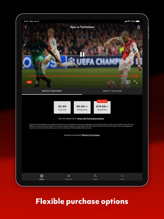 Catch Sports - Where to Watch or Listen to Live Sports screenshot