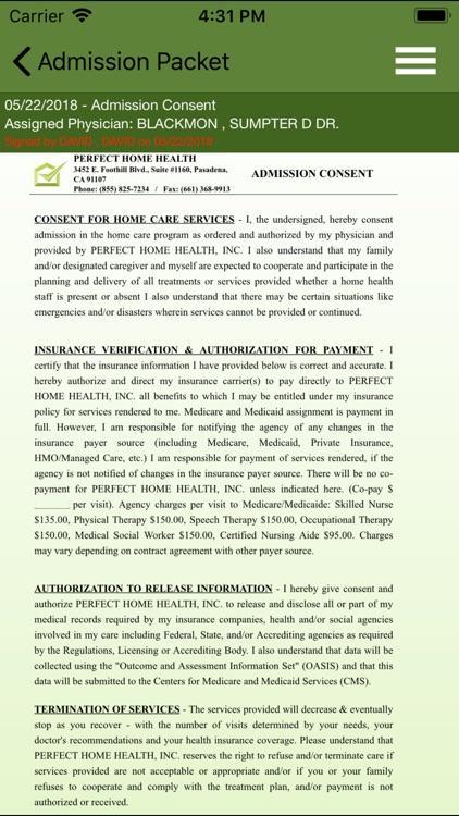 Perfect Home Health v2 screenshot-5
