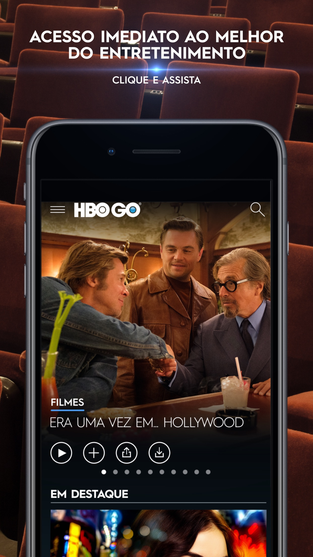 Screenshot do app HBO GO ®