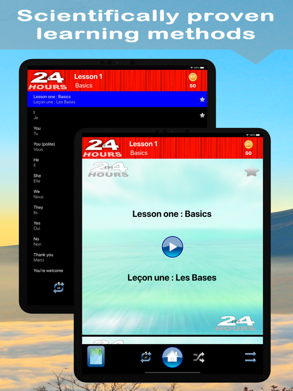 In 24 Hours Learn to Speak French screenshot
