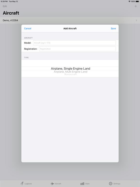 Screenshot #6 pour SkyPilot 3 - Flight Logbook