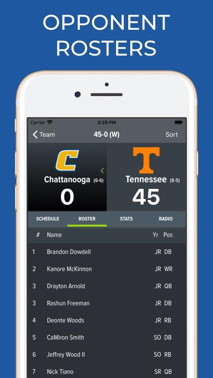 Tennessee Football Schedules screenshot-8