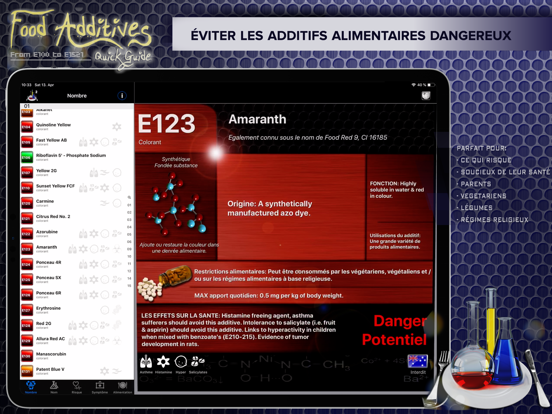 Screenshot #5 pour Additifs Alimentaires 2
