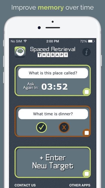 Spaced Retrieval Therapy screenshot-0