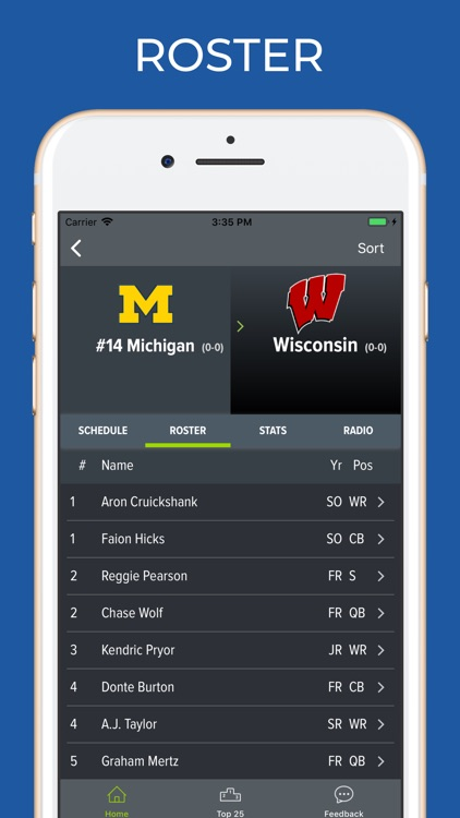 Wisconsin Football Schedules screenshot-2