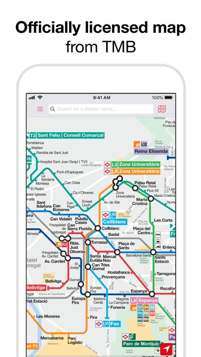 Telecharger Barcelona Metro Tmb Map Pour Iphone Ipad Sur L App Store Navigation