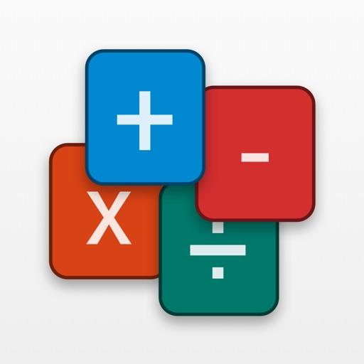 mathCards ÷ x + -