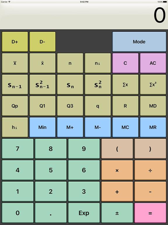 Kalkulilo (scientific calculator) screenshot
