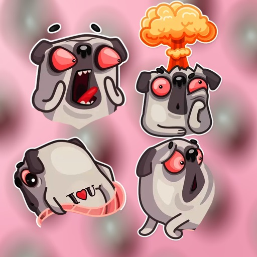 The angry Dog Stickers HD
