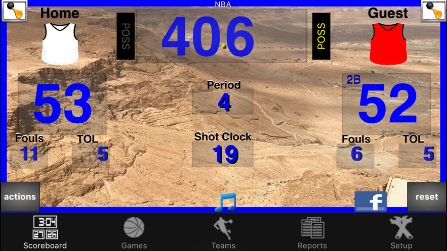 Ballers Basketball Scoreboard App 截图