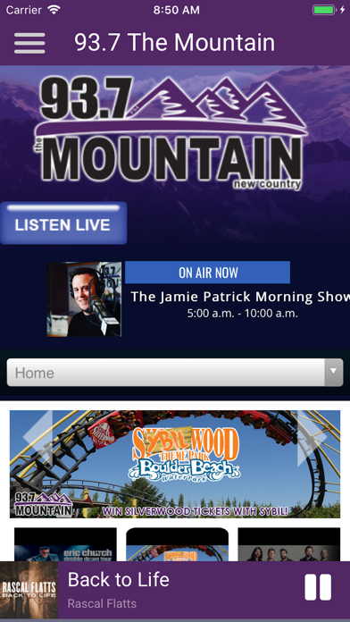 93.7 The Mountain New Country screenshot three