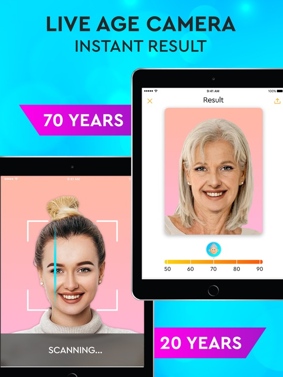 iPad Image of Face Aging App - Oldify Camera