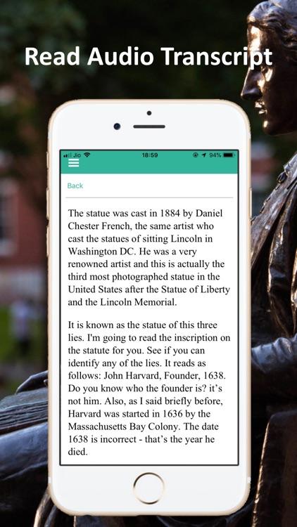 Harvard Yard Boston Tour Guide screenshot-5