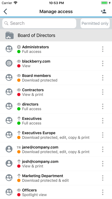 BlackBerry Workspacesのスクリーンショット2