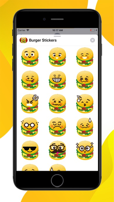 Burger Emoji Sticker screenshot 1