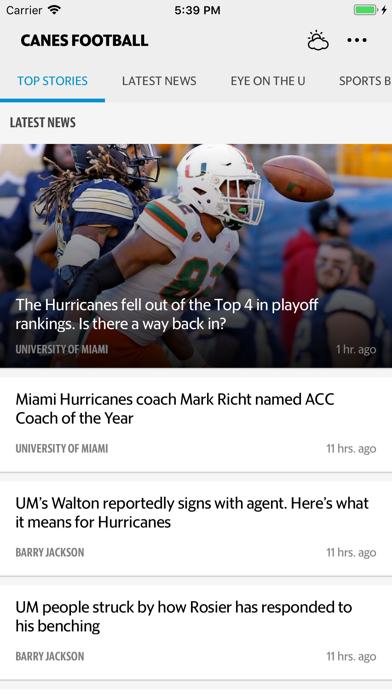 News for Canes Football Screenshot