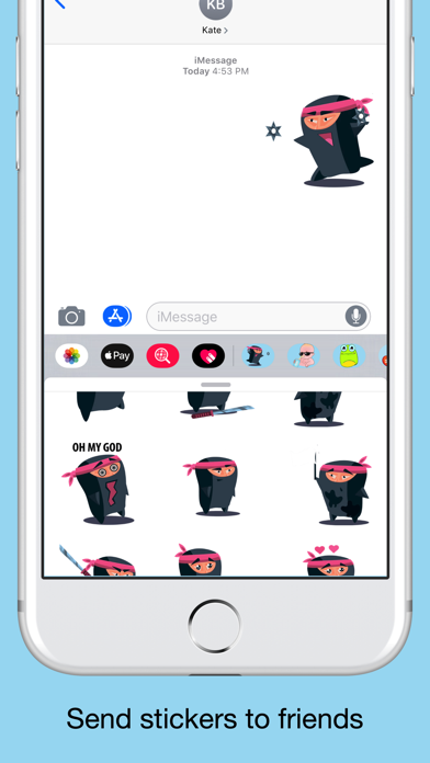 Ninja emoji - Attack stickers screenshot 4