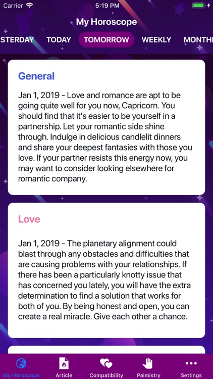 Horoscope 2020! screenshot-2