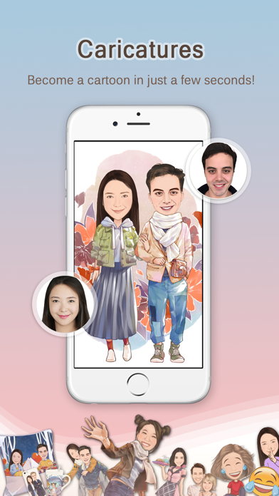MomentCam Cartoons & Stickers Screenshot on iOS