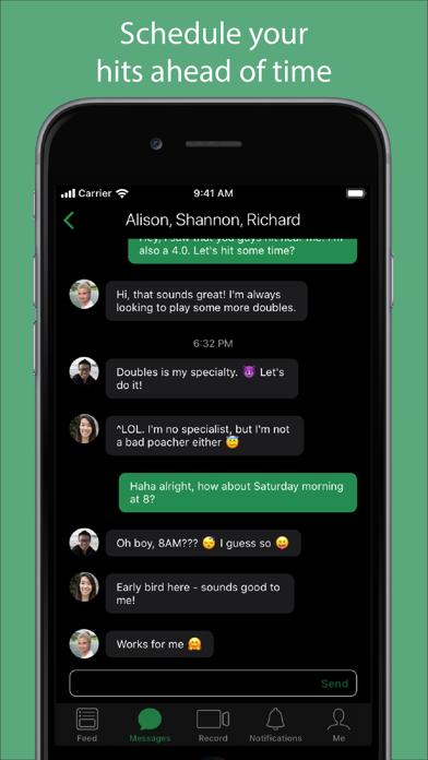 Screenshot #3 pour SwingVision - A.I. Tennis App
