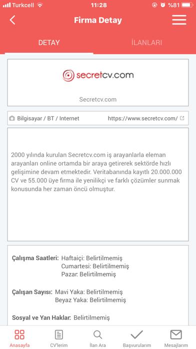 download Secretcv İş İlanları indir ücretsiz - windows 8 , 7 veya 10 and Mac Download now