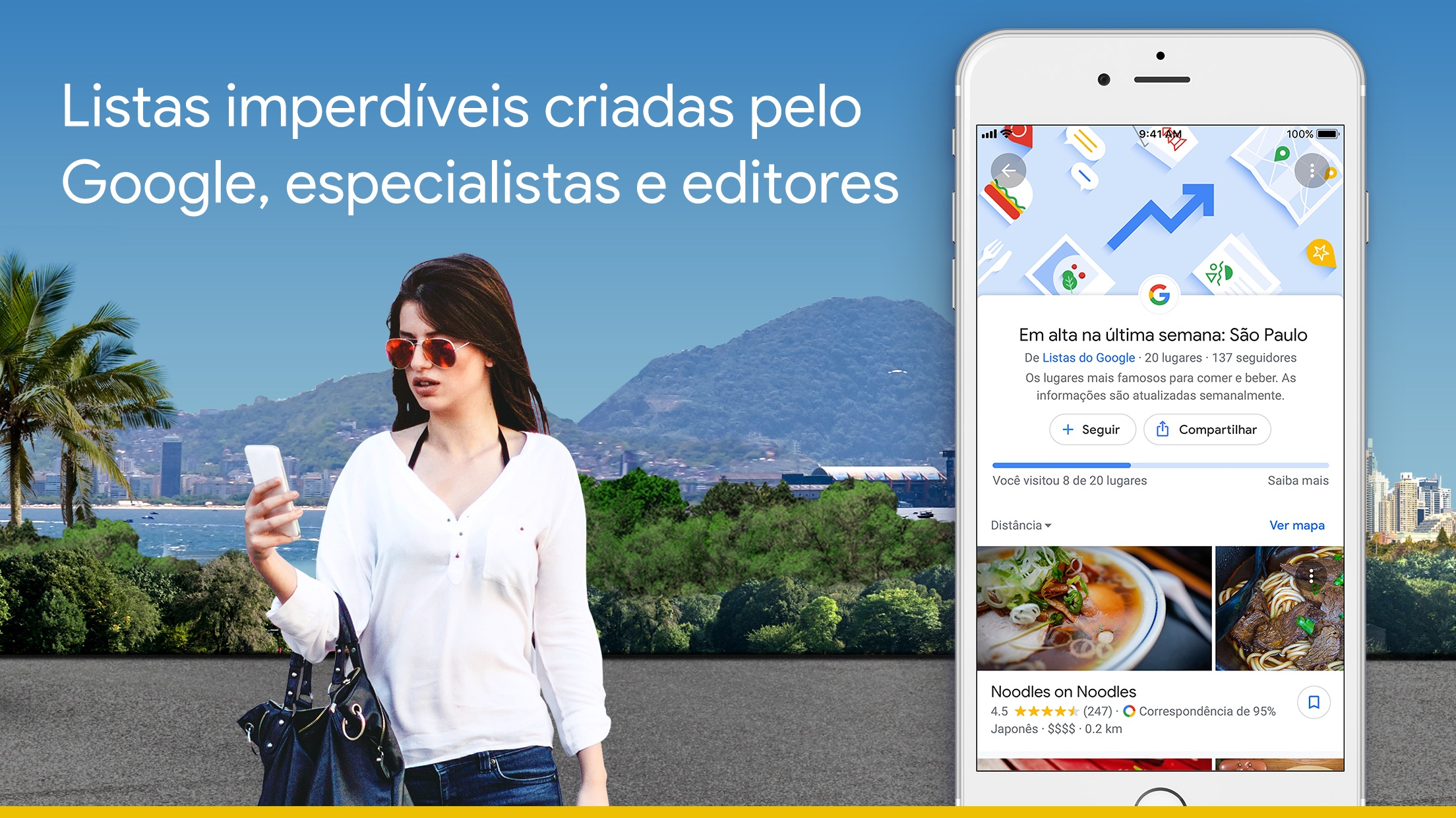 Screenshot do app Google Maps -trânsito & comida