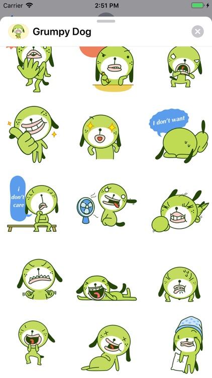 Grumpy Dog Animated Stickers