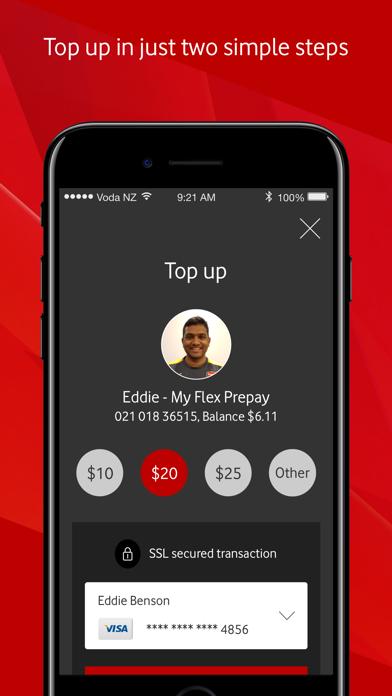 Screenshot for My Vodafone New Zealand in New Zealand App Store