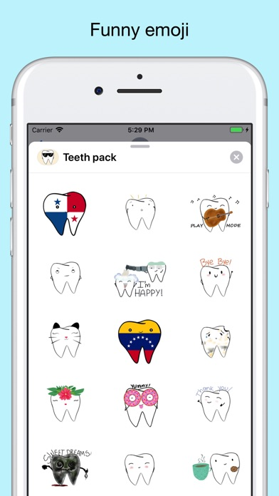 Teeth Emojis & Smiley stickers screenshot 3