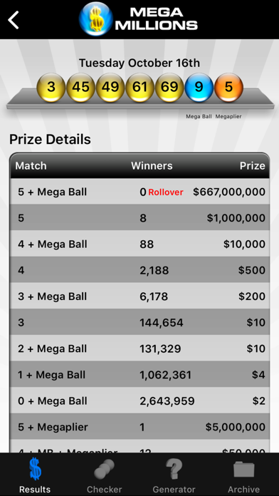 Mega Millions Lottery screenshot three